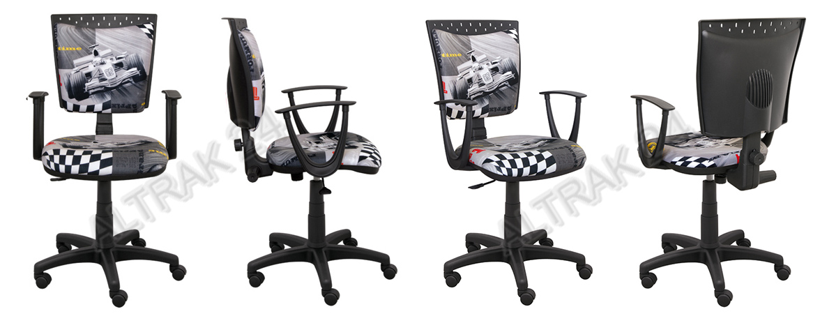 gas lift swivel office computer chair with armrests adjustable