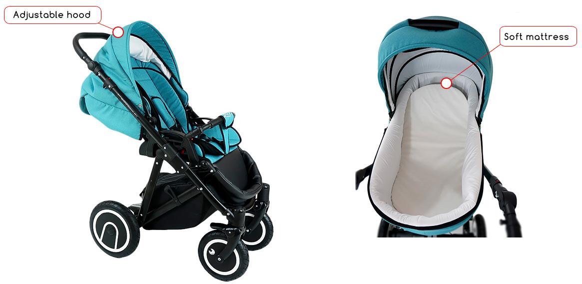 Bien-aimé Pram Stroller buggy Pushchair poussette Bexa LINE car seat swivel  JK45
