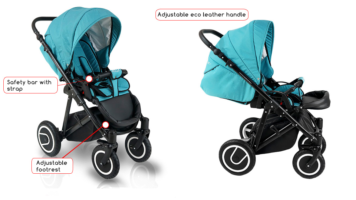 Célèbre Pram Stroller buggy Pushchair poussette Bexa LINE car seat swivel  ZX23