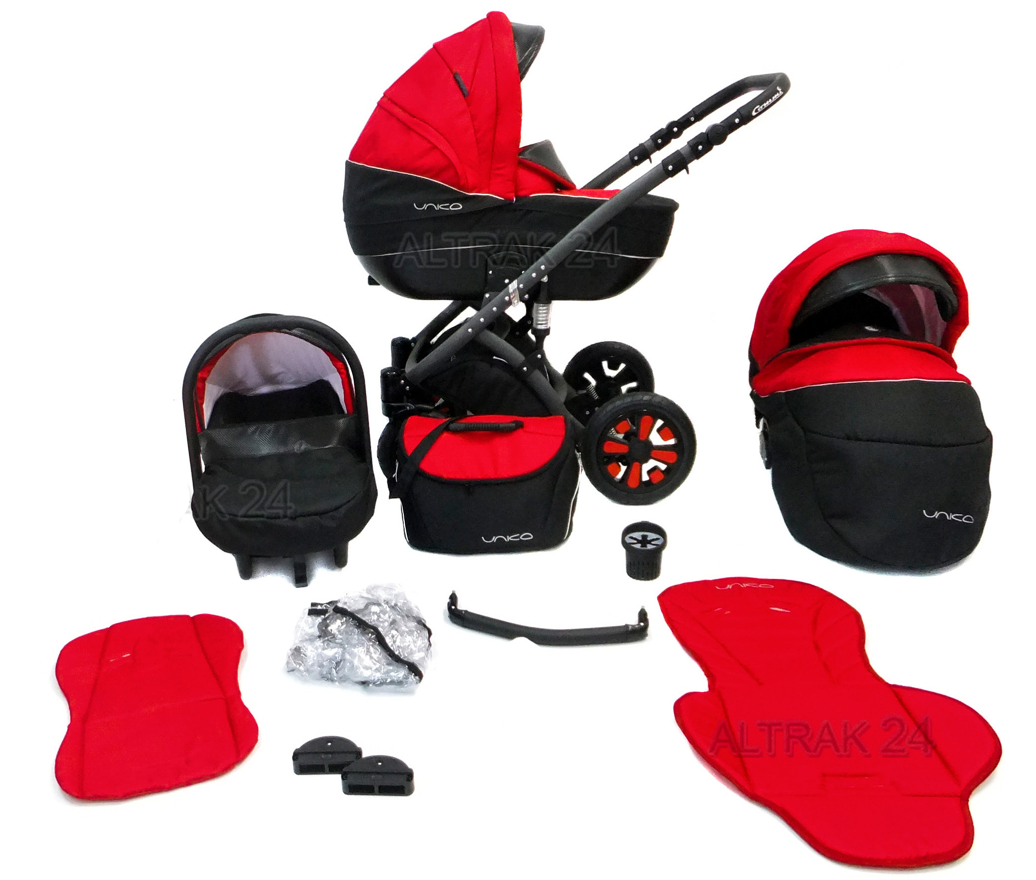 pram stroller buggy pushchair travel in commi unico swivel 21 colours car seat