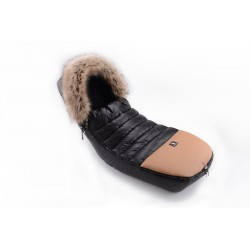 Cottonmoose - Śpiwór zimowy - Alaskan Moose - Czarny-Naturalna Eko Skóra