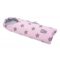 Cottonmoose - Otulaczek - 439/27/49 Pink Star Melange