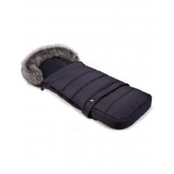 Cottonmoose - Śpiwór zimowy - Moose - Combi z futerkiem - grafit - grafit
