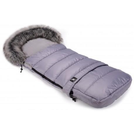 Cottonmoose - Śpiwór zimowy - Moose - Combi z futerkiem - szary - szary