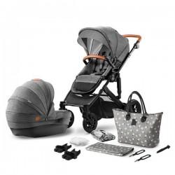 Kinderkraft Prime + Mommy Bag 3w1 Szary