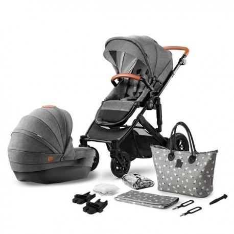 Kinderkraft Prime + Mommy Bag 2w1 Szary