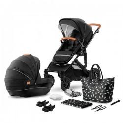 Kinderkraft Prime + Mommy Bag 3w1 Czarny