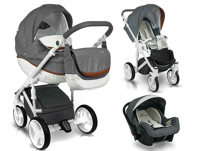 Très Pram Stroller Buggy Pushchair poussette Bexa Ideal New car seat  EG43