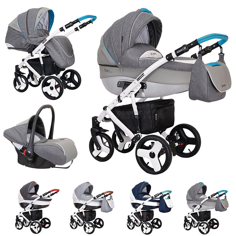 Details About Baby Pram Buggy Pushchair Stroller Travel System 3in1 Florino Carbon By Coletto